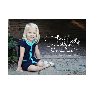 Photo Paper Familiar Verses Holiday Photo Cards