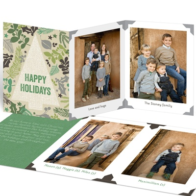 Trifold Photo Album Christmas Cards