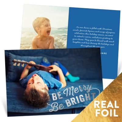 Shining Bright Foil Holiday Photo Cards
