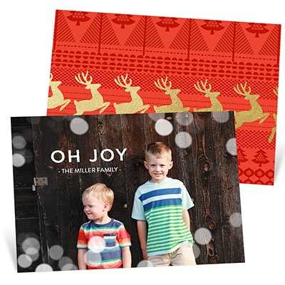 Magical Lights Holiday Photo Cards