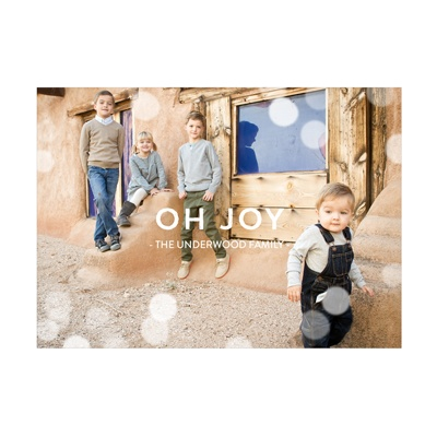Photo Paper Magical Lights Holiday Photo Cards