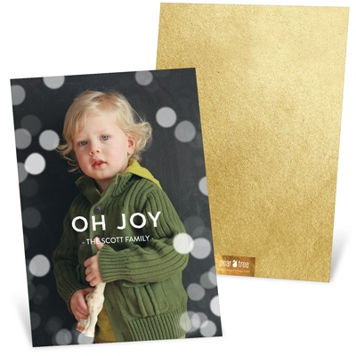 Magical Lights Vertical Holiday Photo Cards