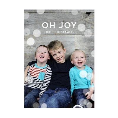 Photo Paper Magical Lights Vertical Christmas Cards