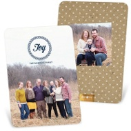 Joy Wreath Vertical Holiday Photo Cards