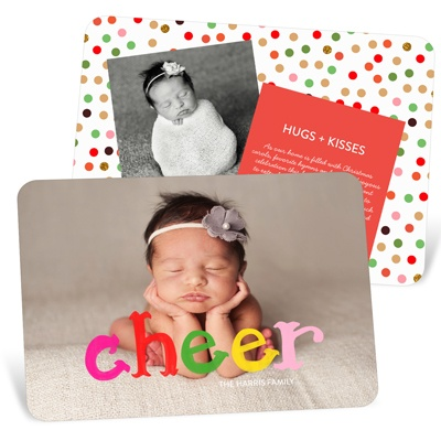 Colorful Cheer Holiday Photo Cards
