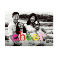 Photo Paper Colorful Cheer Christmas Cards
