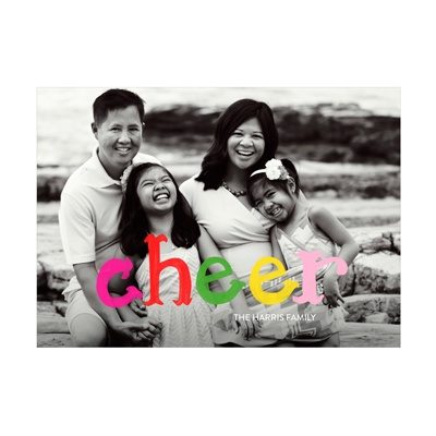 Photo Paper Colorful Cheer Holiday Photo Cards