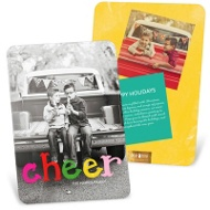 Colorful Cheer Vertical Holiday Photo Cards
