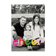 Photo Paper Colorful Cheer Vertical Christmas Cards
