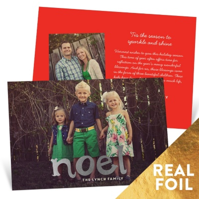 First Noel Foil Holiday Photo Cards