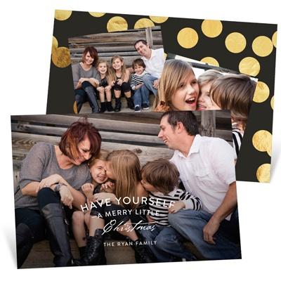 Mixed Font Greeting Holiday Photo Cards