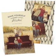 Mixed Font Greeting Holiday Photo Cards