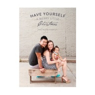 Photo Paper Mixed Font Vertical Greeting Christmas Cards