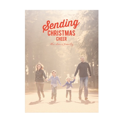Photo Paper Moveable Cheer Vertical Christmas Cards