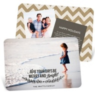 Sweet Mistletoe Message Holiday Photo Cards
