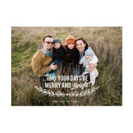 Photo Paper Mistletoe Message Christmas Cards