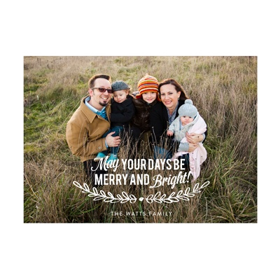Photo Paper Mistletoe Message Holiday Photo Cards