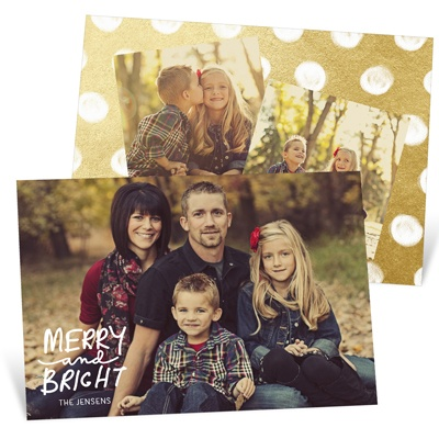 Three Photo Perfection Christmas Cards