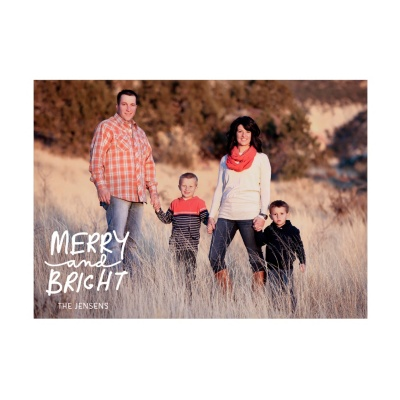 Photo Paper Merry Message Christmas Cards