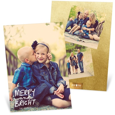Three Photo Perfection Vertical Holiday Photo Cards