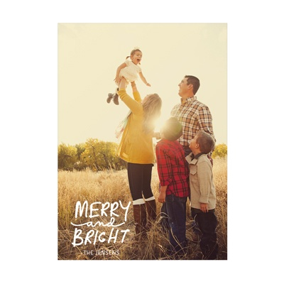 Photo Paper Merry Message Vertical Christmas Cards