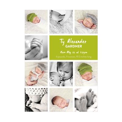 Photo Paper Insta-Announcement Baby Boy Announcements