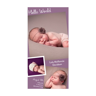 Photo Paper Favorite Pics Baby Girl Announcements