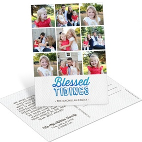 Blessed Tidings Postcard -- Religious Christmas Cards