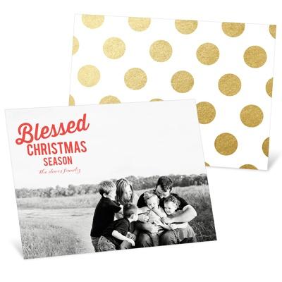Blessed Season Religious Christmas Cards