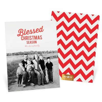Blessed Season Vertical Religious Christmas Cards