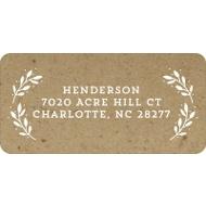 Evergreen Greeting On Kraft Paper Christmas Address Labels