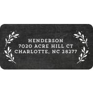 Evergreen Greeting On Chalkboard Christmas Address Labels