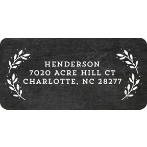 Evergreen Greeting On Chalkboard -- Christmas Address Labels