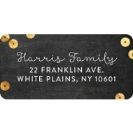 Chalkboard & Faux Sequins Christmas Address Labels