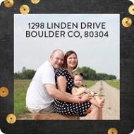 Framed Photo Christmas Address Labels