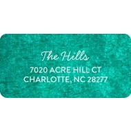 Rubbed Color Trifold Christmas Address Labels