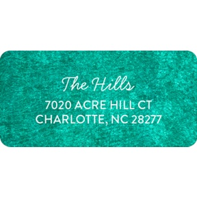 Rubbed Color Trifold -- Christmas Address Labels