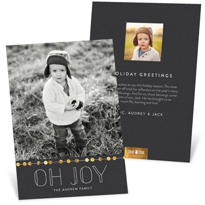 String Of Sequins Holiday Photo Cards