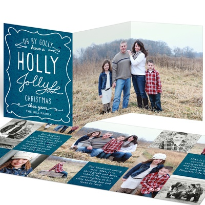 Fun With Fonts Holiday Photo Cards