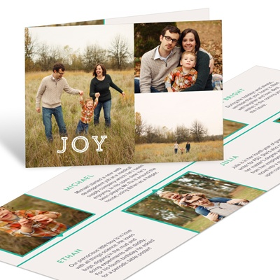 Timeline Unfolds Holiday Photo Cards