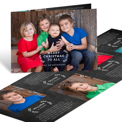 Mistletoe Kisses Holiday Photo Cards