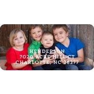 Sending Hugs Christmas Address Labels