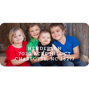 Sending Hugs -- Christmas Address Labels