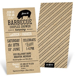 I Do BBQ -- Bridal Shower Invitations