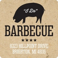 I Do BBQ Wedding Address Labels