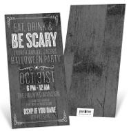 Haunted Wood Halloween Invitations
