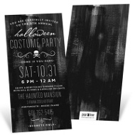 Wear Black Halloween Invitations