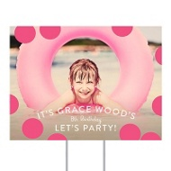 Dot To Dot Horizontal Yard Sign Kids Party Decorations