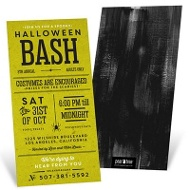 Kreepy Kraft Halloween Invitations