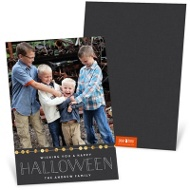 String Of Sequins Halloween Photo Cards